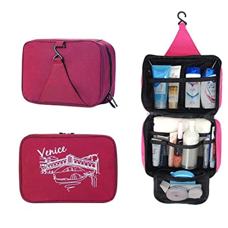 1b9ce01f60 JIAHG Travel Hanging Toiletry Bag Wash bag Bathroom Portable Cosmetic  Organizer Makeup Kit Unisex Water-
