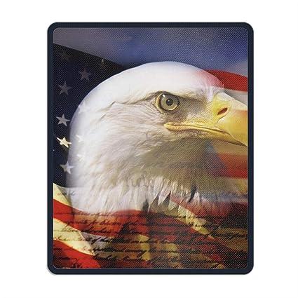 Amazon Com Mouse Pad American Flag Eagle Wallpaper Standard Size