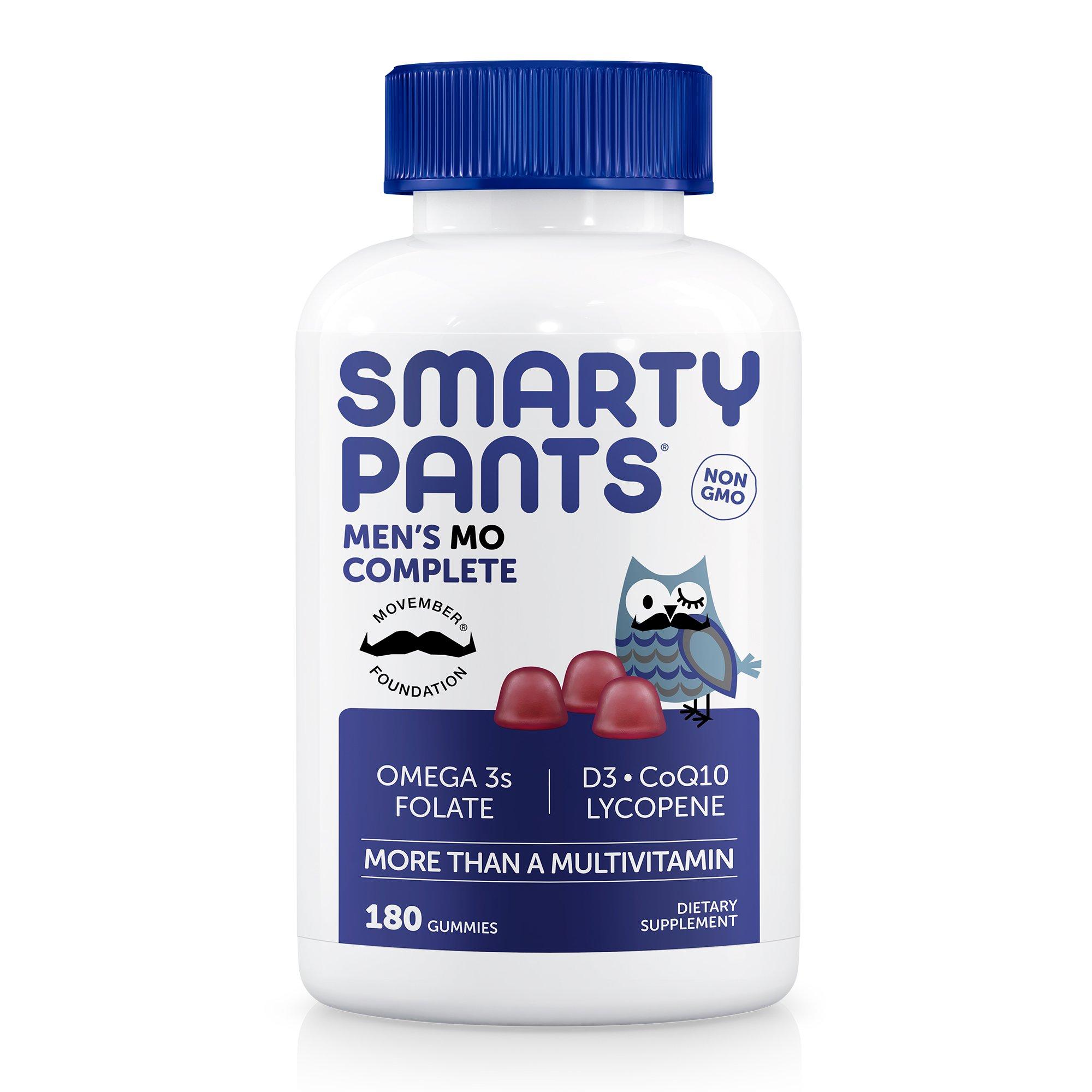 SmartyPants Men's Complete Gummy Vitamins: Multivitamin, CoQ10, Lycopene, Methyl B12, & Omega 3 EPA/DHA Fish Oil, 180 count (30 Day Supply)