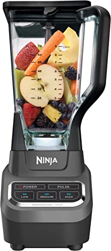 Ninja Professional 72oz Countertop Blender with 1000-Watt Base and Total Crushing Technology for Smoothies, Ice and Frozen Fruit BL610 , Black