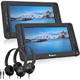 """NAVISKAUTO 10.1"""" Dual Screen Portable DVD Player for Car, Headrest Video Player with Headphones, 5-Hour Rechargeable…"""