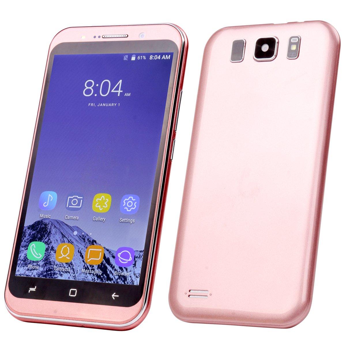 Móviles y Smartphones Libres, 5,0 Pulgadas Android 6.0 Smartphone 3G (MTK6580 Procesador 1.3GHz, Quad Core, Dual SIM, 1 GB RAM + 4GB ROM, Doble Camara, Beauty Cámara 5.0Mp GPS Telefonos … Pasa el ratón por encima de la imagen para ampliarla Móviles y Smar