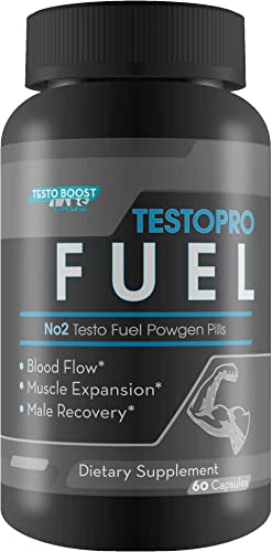 TestoPro Fuel – N02 Testo Fuel Powgen Pills – Help Fuel Natural Testosterone Production – Blood Flow – Muscle Expansion – Male Recovery – Feel The Difference in Your Day with This N02 Male Formula