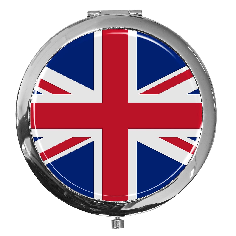 metALUm Premium - Taschen - Spiegel aus verchromten MetallFlagge Groß Britannien mit edler, hochglänzender Kunstharzbeschichtung - tolles Geschenk für England - Fans