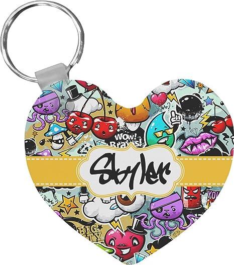graffiti heart keychain personalized at amazon women s clothing store