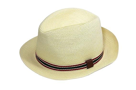 eeab493084f Amazon.com  Gucci Straw Fedora Hat