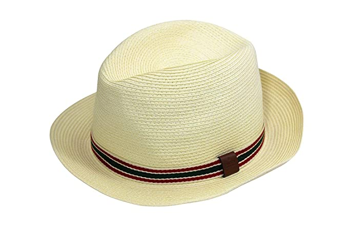 Amazon.com  Gucci Straw Fedora Hat 0eb064749589