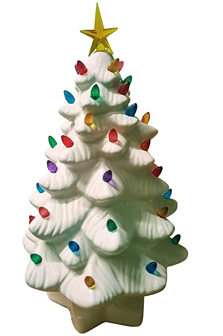 Amazon Com Merry Kitschmas Vintage Style Lighted Ceramic Christmas