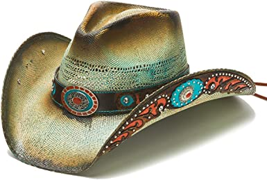 Stampede Hats Women's Cowgirl Orange Studded Vintage Western Hat at Amazon  Women's Clothing store
