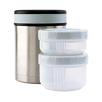 Laken Thermo Insulated Stainless Steel Vacuum Food Jar Container w/Cover and