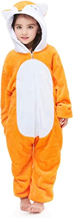 AlfaBridal Animal Onesie Costume Plush One-Piece Cartoon Cosplay Pajamas for Adults and Kids