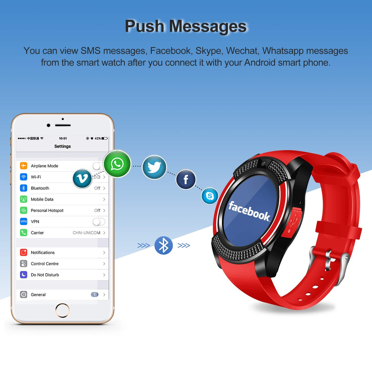 ... Round with Touch Screen Camera SIM Card Slot Sport Fitness Tracker Smartwatch Compatible with Android Phones Samsung Huawei Xiaomi Sony iPhone iOS Women ...