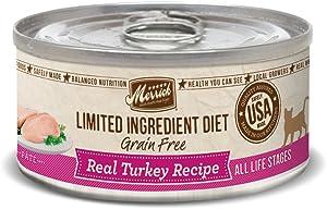 Merrick Grain Free Limited Ingredient Diet Real Meat Adult Wet Cat Food Turkey (24) 5oz cans