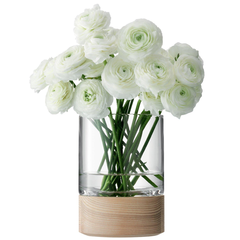 LSA (エルエスエー) G992-36-301 LOTTA(ロッタ) フラワーベース (花器) 台座ウッド 高さ36cm B00JUOH9R4 高さ36cm  高さ36cm