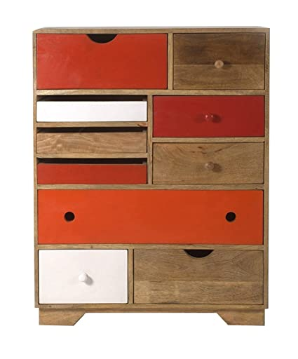 The Attic Phoenix Chest of Drawers (Lacquered, Multicolor)