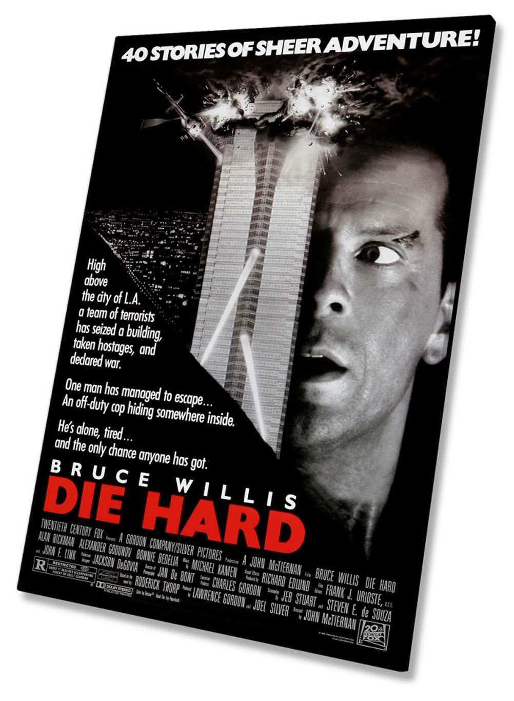 Die Hard Film Movie Poster Auf Leinwand, gerahmt Print 50,8 x 76,2 cm