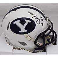 $109 » Taysom Hill Autographed BYU Cougars White Speed Mini Helmet Beckett BAS Stock #177443