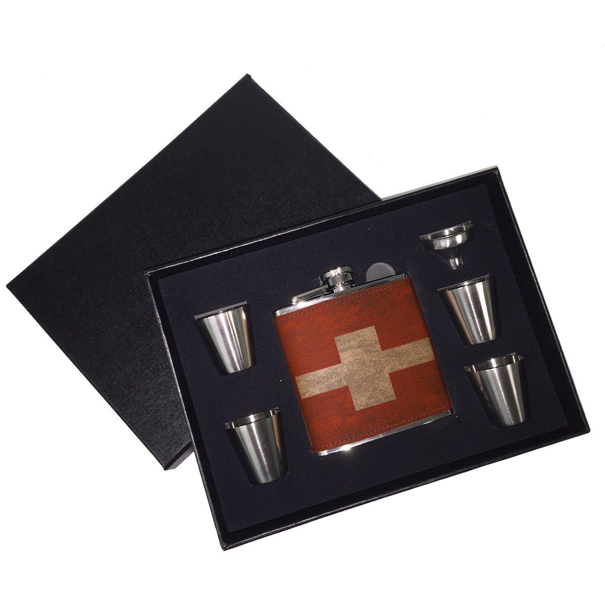 【スーパーセール】 スイスフラグ – B01J18CVAI – レザーフラスコギフトセット B01J18CVAI, 期間限定特別価格:eabf9ddb --- h909215399.nichost.ru