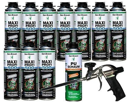 Den Braven Set profesional 10 x Maxi profesional 1 KB2 de – Pistola de espuma de