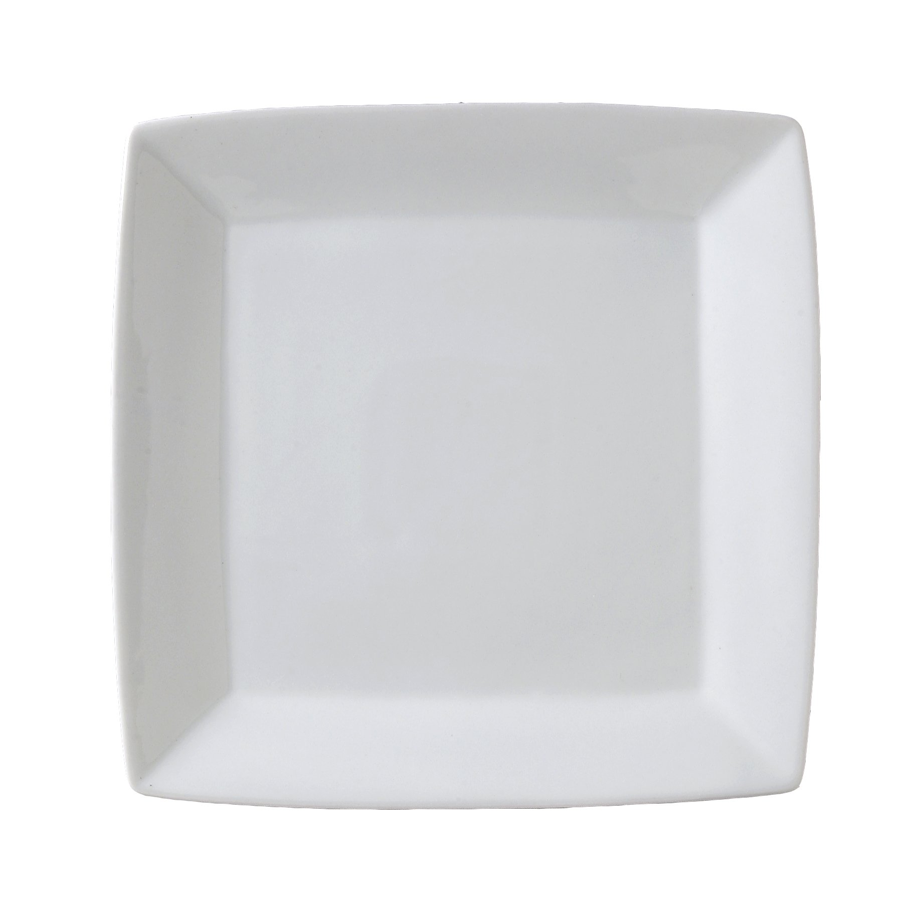 Vertex China ARG-S6P Signature Square Plate without Embossed, 6'', Porcelain White (Pack of 36)