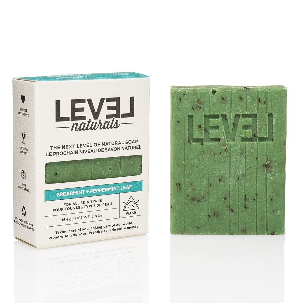 Level Naturals - Cruelty-Free and All-Natural Bar Soap - 5.8 oz. (Peppermint + Pumice)