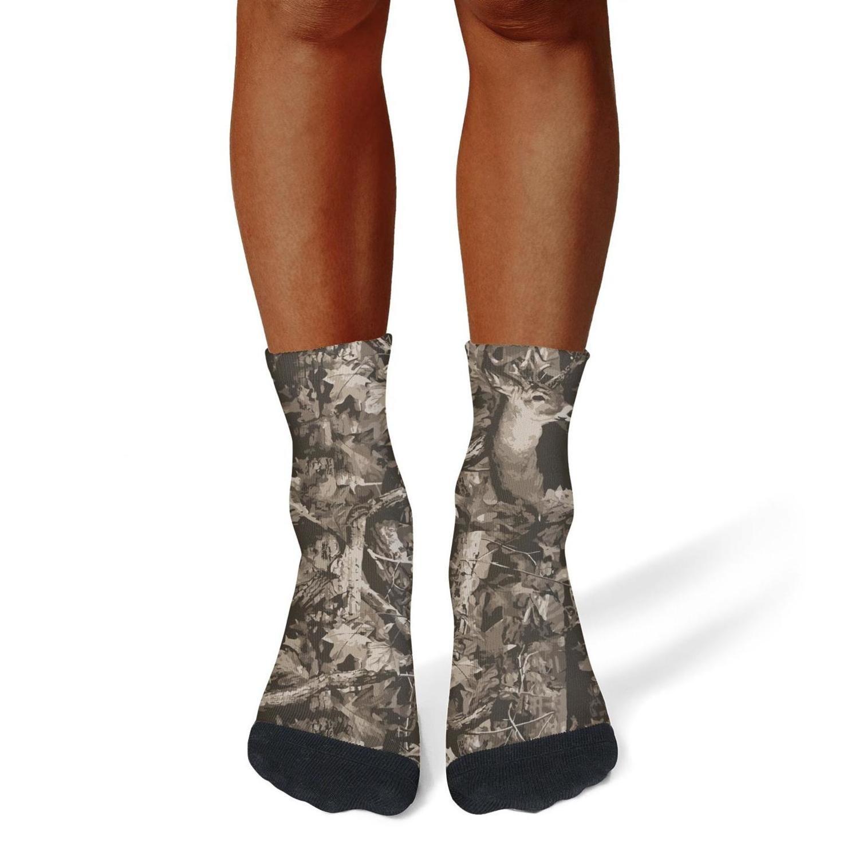 XIdan-die Mens Athletic Crew Socks real tree camouflage Moisture Wicking Casual Socks