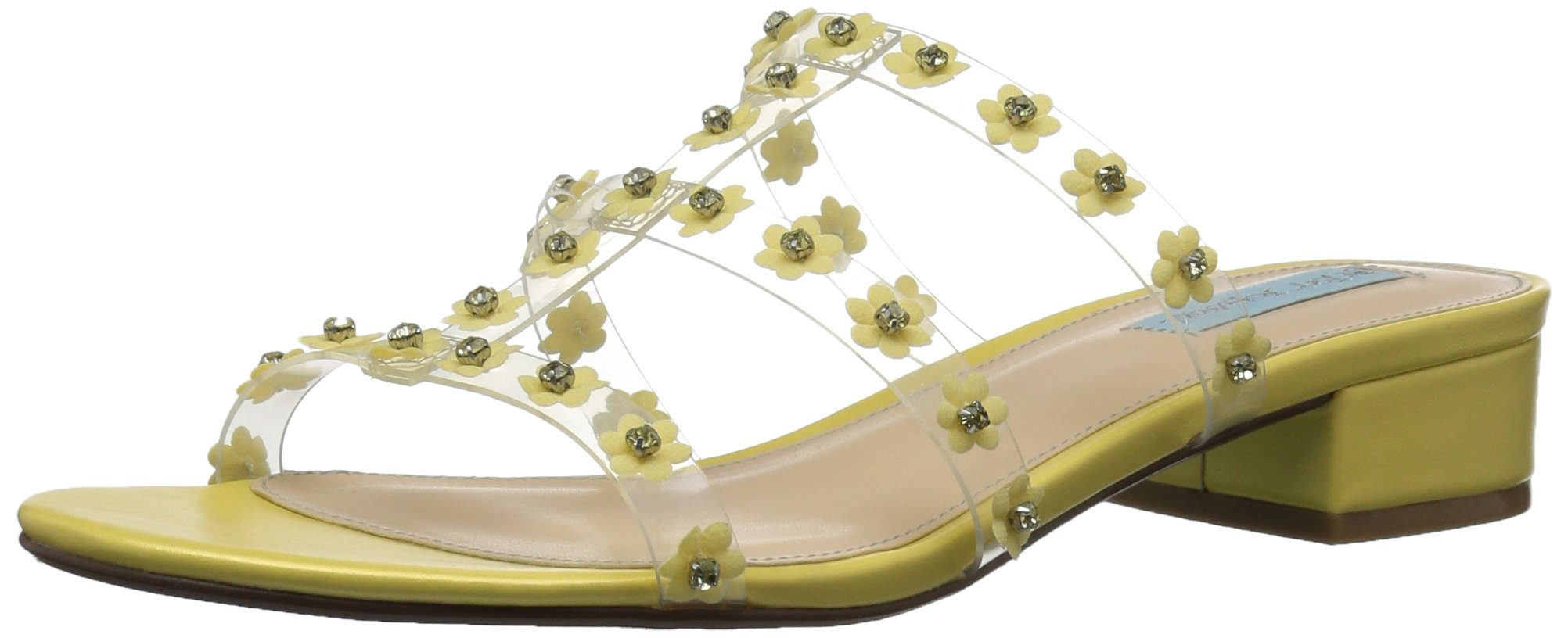 Blue by Betsey Johnson Women's SB-Arlyn Slide Sandal, Yellow, 7.5 M US
