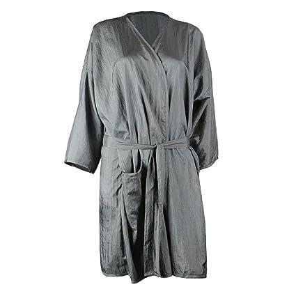 Bata de masaje spa, Segbeauty Grey Salon Kimono para el color del cabello Maquillaje con