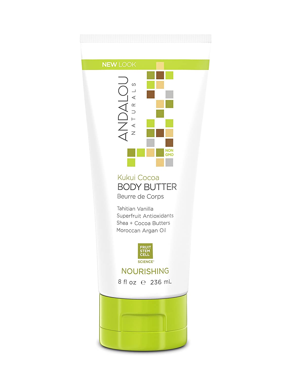 Andalou Naturals Kukui Cocoa Nourishing Body Butter, 8 Ounce : Beauty