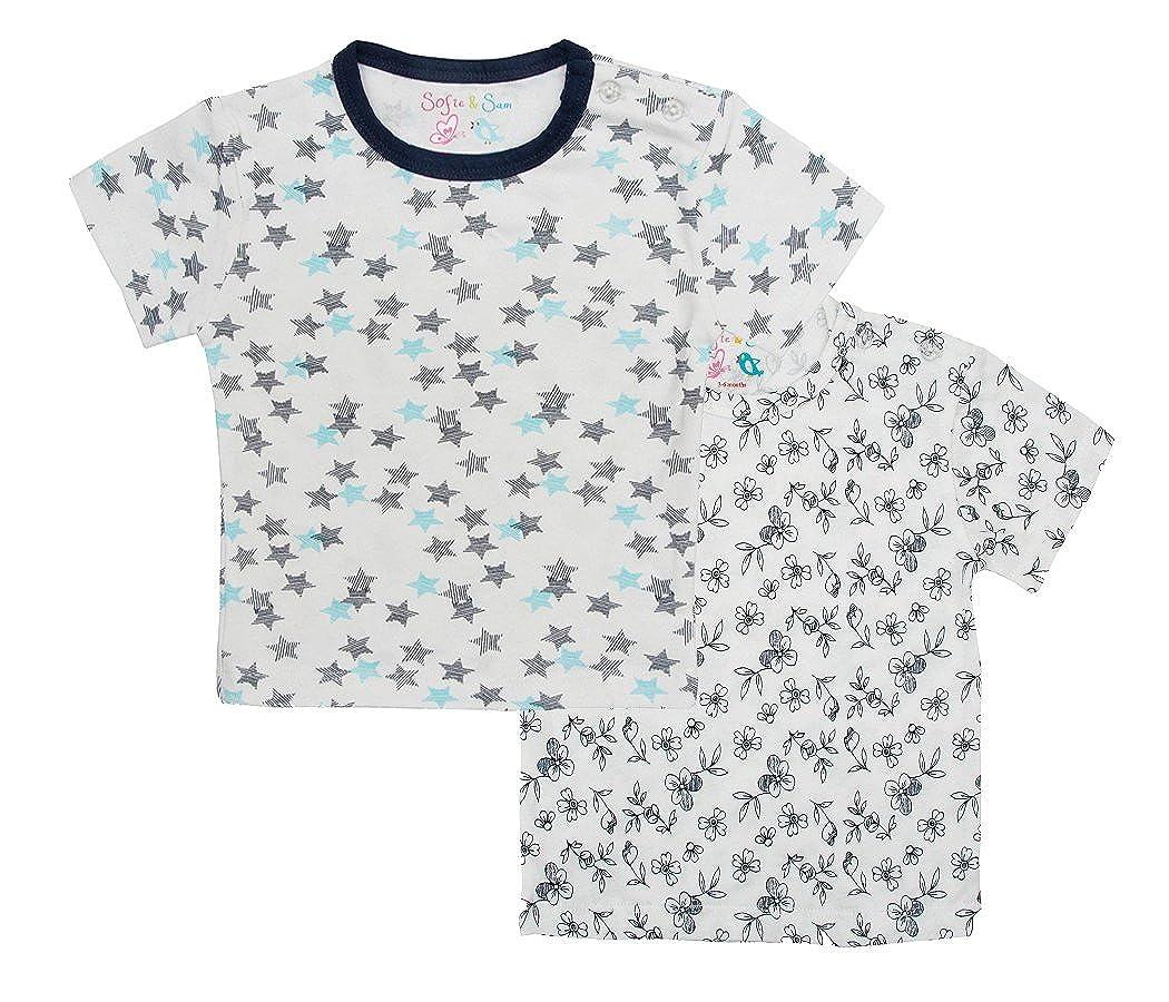 Sofie & Sam Organic Cotone Combo Set T-Shirt Maglietta da Bimba BTC