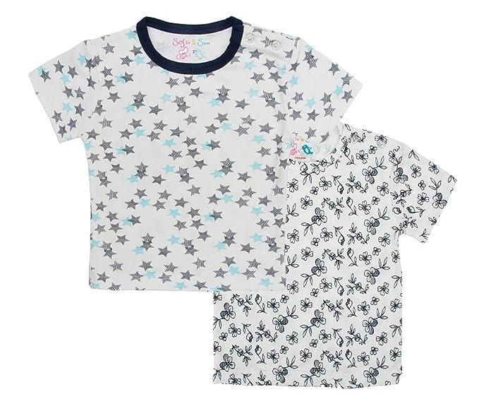 Sofie & Sam - Combo Pack de 2 Camisetas para 9-12 Meses bebé,