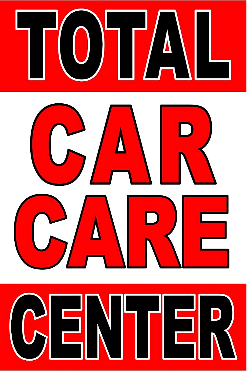 Car Care Center >> Amazon Com Advertising Business Poster Sign 24 X36 Total