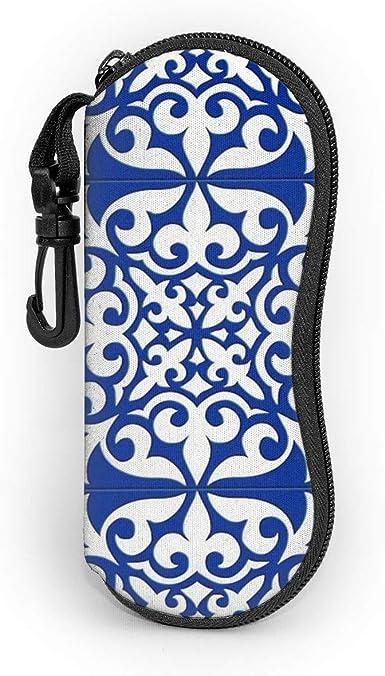 moroccan tile cobalt blue glasses