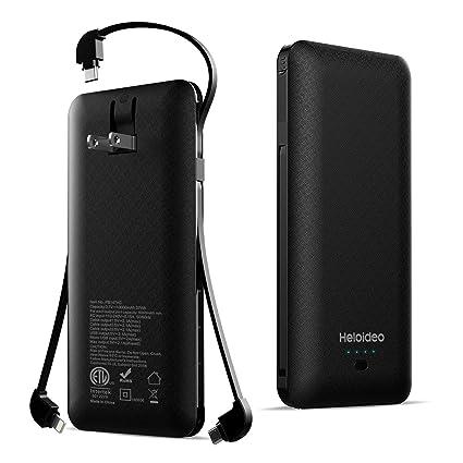 Amazon.com: Heloideo - Batería externa de 10000 mAh para ...