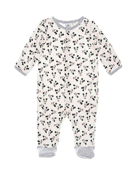 Mickey Mouse - Pelele para dormir - para bebé niño blanco/gris 0 Meses : Amazon.es: Ropa y accesorios