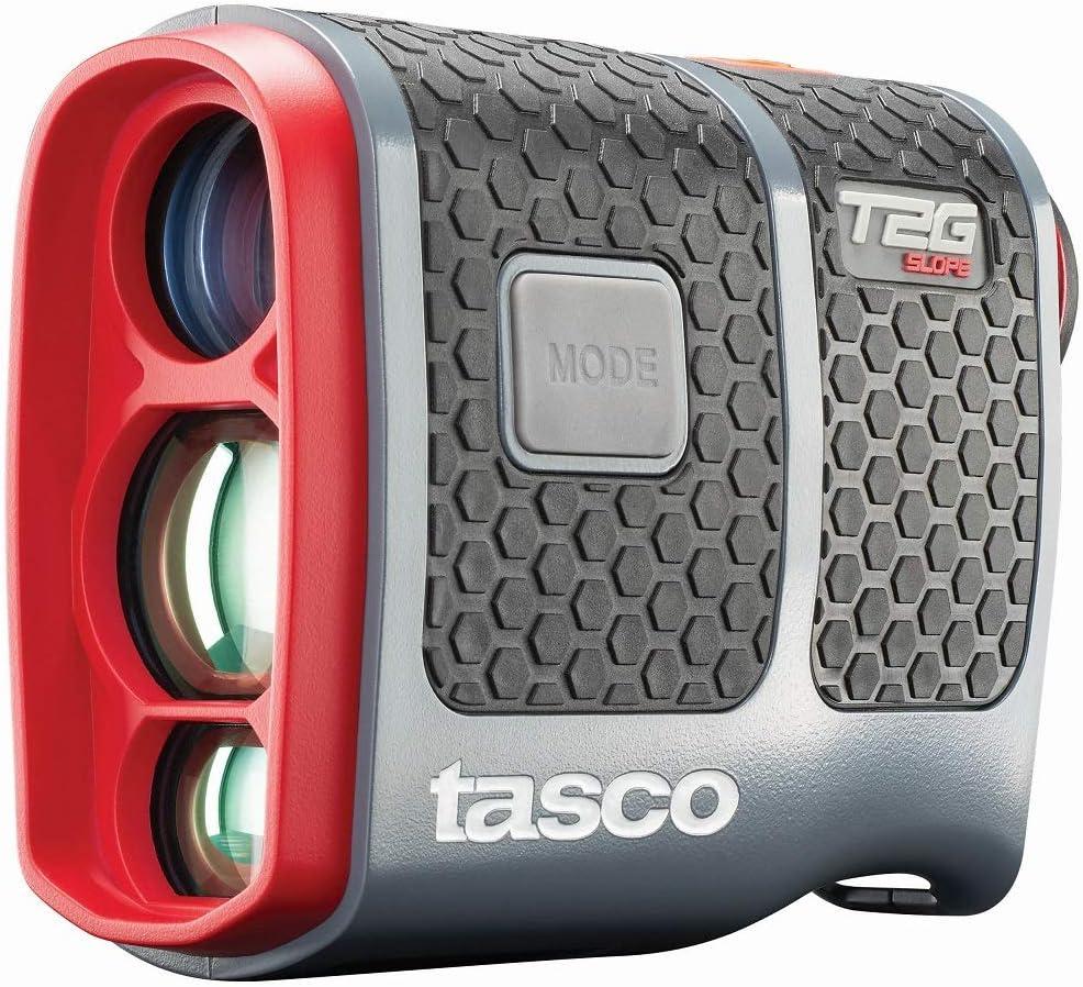 TASCO Telémetro láser T2G Slope Golf Modelo 2019 con Ranura, escaneo, detección de Objetivos y Mucho más. Incluye batería, Funda de Transporte y paño de Limpieza