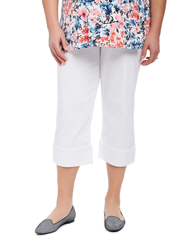 Motherhood Plus Size Secret Fit Belly Skinny Leg Maternity Crop Pants