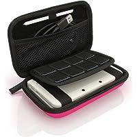 igadgitz Pink EVA Hart Tasche Schutzhülle fur Neu Nintendo 3DS XL (Alle Versionen) & 2DS XL 2017 Etui Case Cover mit Tragegurt