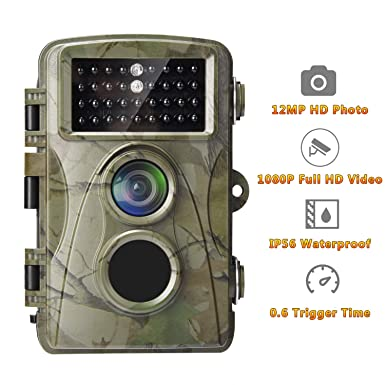f448c116c63cf AlfaView Trail Camera 12MP 1080P Wildlife Scouting Hunting Camera Motion  Activated Night Vision Game Cam with 2.4