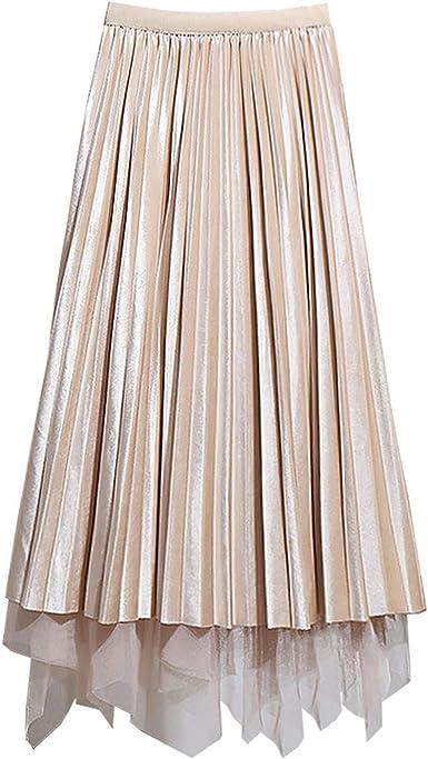 Redsheep skirts Terciopelo Reversible Tul Largo Faldas Mujeres ...