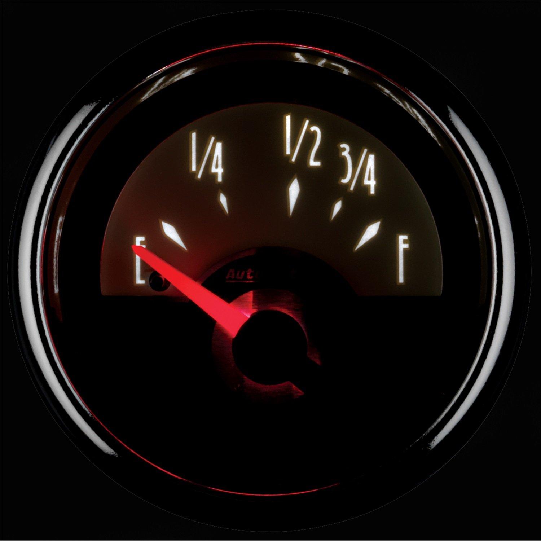 Auto Meter 5609 Elite 2-1//16 Programmable Fuel Level Gauge