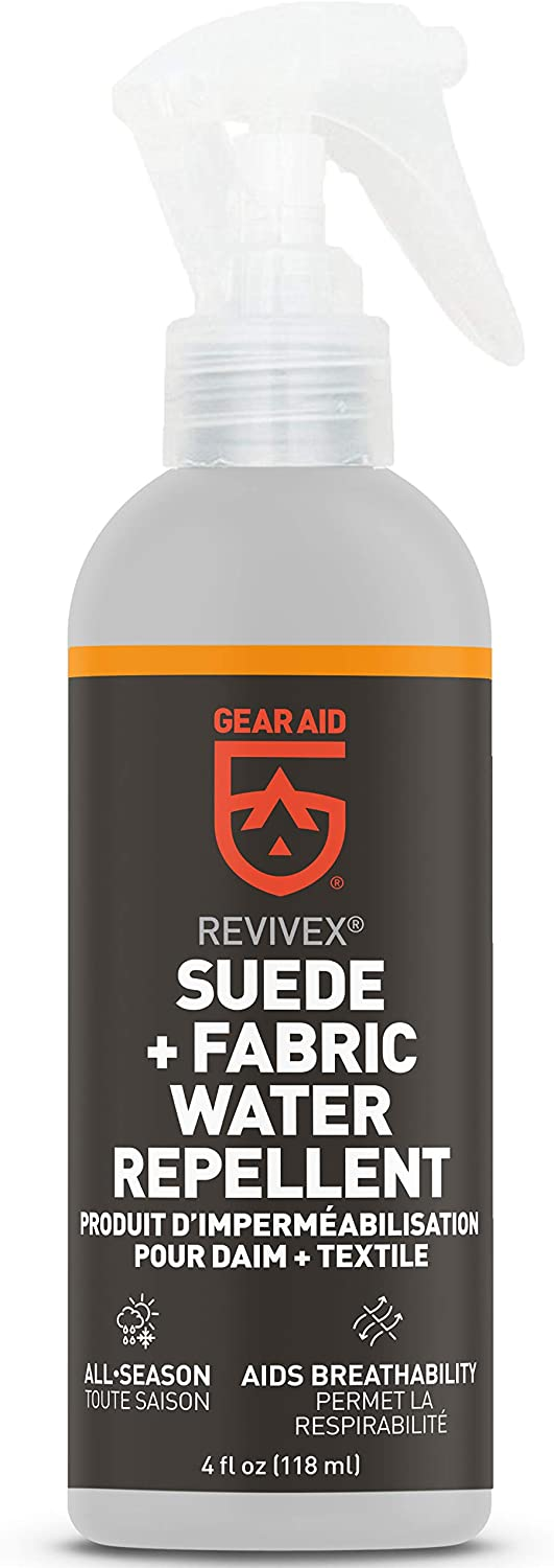 GEAR AID Revivex Suede Protector and Fabric Water Repellent for Shoes and Boots, 4 fl oz, Clear: Sports & Outdoors