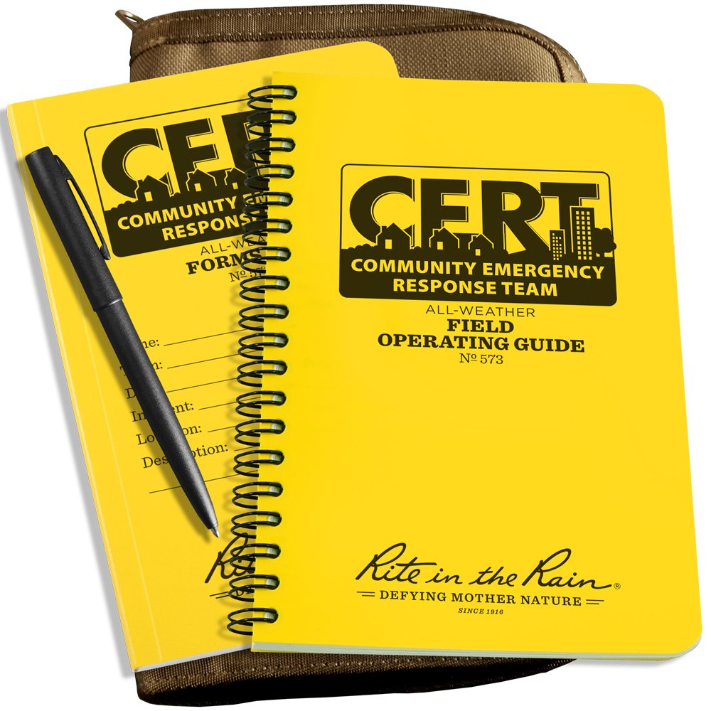 Rite in the Rain All-Weather CERT KIT: Tan CORDURA Fabric Cover, CERT FOG Guide, CERT Forms Book, All-Weather Pen (No. CERT-KIT) by Rite In The Rain