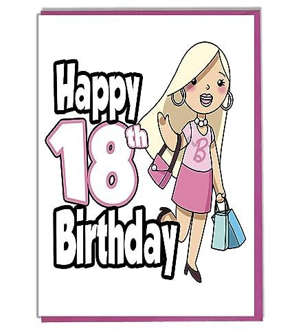 Glamour - Tarjeta de felicitación de 18 cumpleaños para niña ...