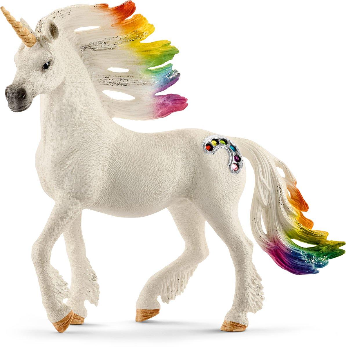 Multicolor Schleich North America Rainbow Stallion Unicorn Toy Figure