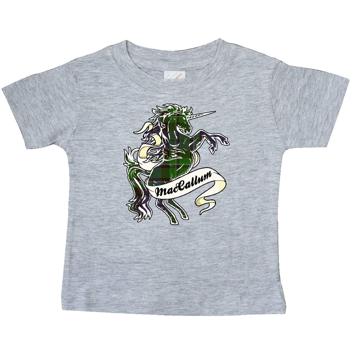 inktastic MacCallum Tartan Unicorn Baby T-Shirt