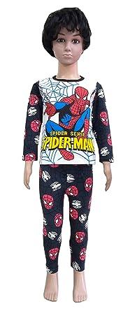 3ab739be0 Keshav Online Baby Boys Spiderman Print Nightwear Pyjama Set Full Sleeves  T-Shirt and Pajama