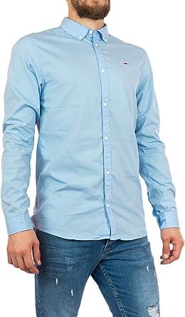 Tommy Hilfiger TJM Light Poplin Shirt Camisa para Hombre: Amazon.es: Ropa y accesorios