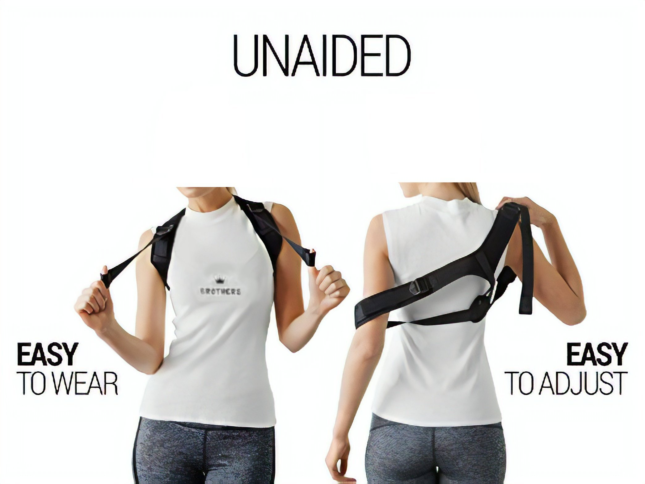 Posture Corrector for Women & Men, Orthopedic Back Support,Fully Adjustable, Breathable and Comfortable Support Brace,Upper Back & Neck Pain Relief by Brothers (Image #3)