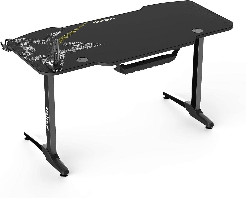 140 x 66 x 75cm Noir Outshine Gaming Fortitude Bureau de jeu 140 cm x 66 x 75 cm avec tapis de souris et gestion des c/âbles int/égr/ée